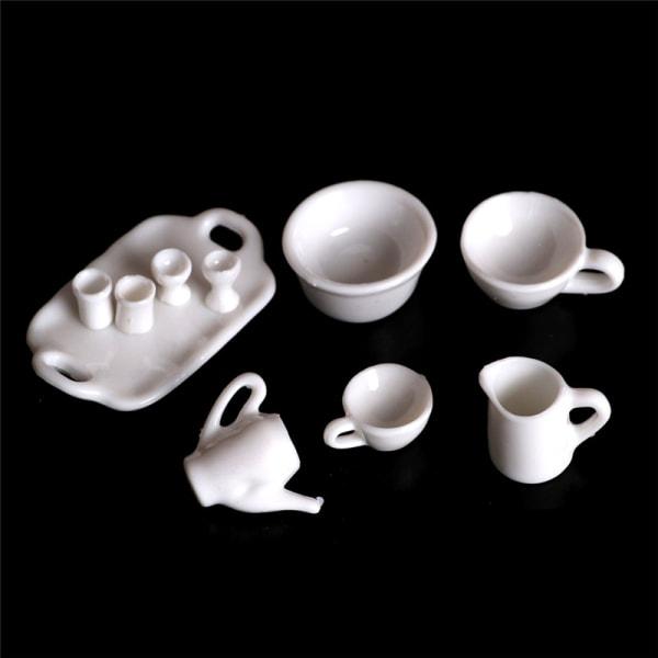 10st Dollhouse Miniature Dining Ware Tea Set Dish Cup Plate