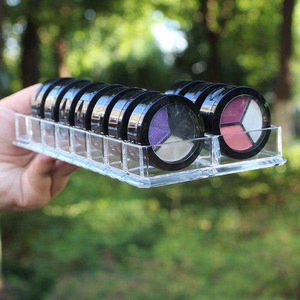 16 Space Eyeshadow Blush Storage Organizer Skönhetsvård Kosmetik