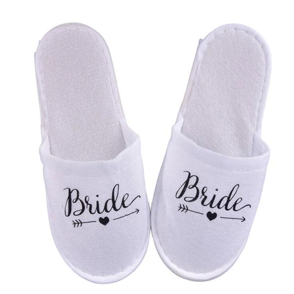 1Pair Bride Wedding Decoration Bridesmaid Party Slippers Ladies Black bride
