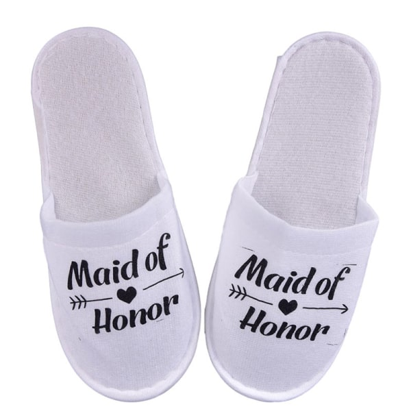 1Pair Bride Wedding Decoration Bridesmaid Party Slippers Ladies Black maid  honour