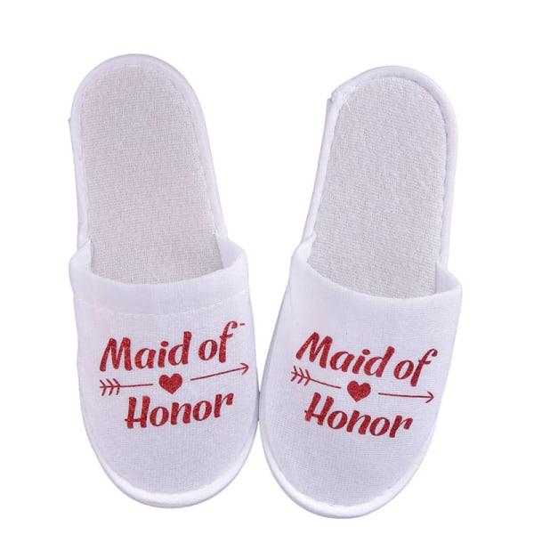 1Pair Bride Wedding Decoration Bridesmaid Party Slippers Ladies Red maid honour