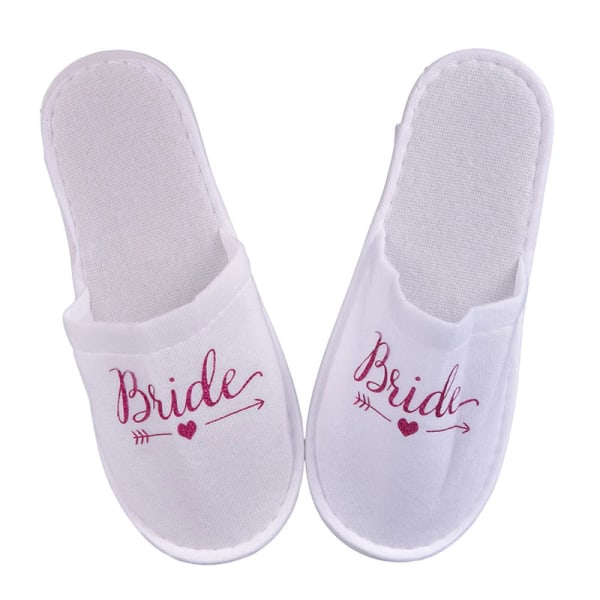1Pair Bride Wedding Decoration Bridesmaid Party Slippers Ladies Rose red bride
