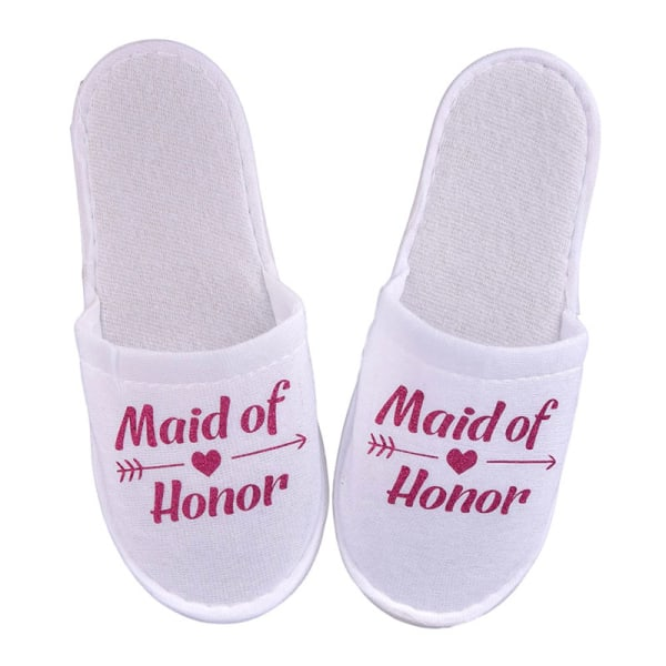 1Pair Bride Wedding Decoration Bridesmaid Party Slippers Ladies Rose red maid honour
