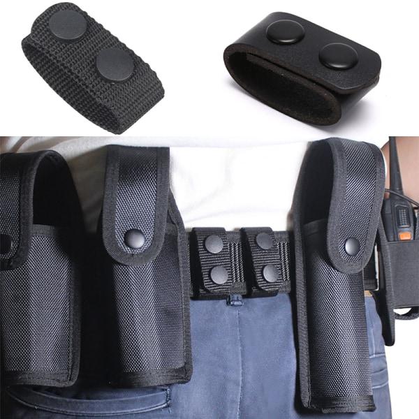 1 st Läder Svart Vanligt Brett Bältehållare Snaps Taktiskt Bälte Bu