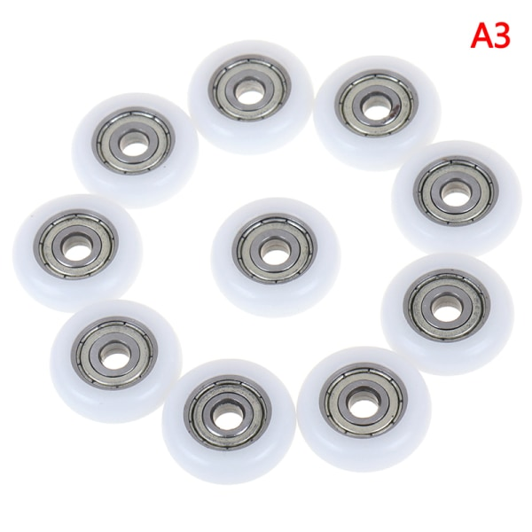 2/5/10 st glidande duschrulle hjul plast dörrbyte
