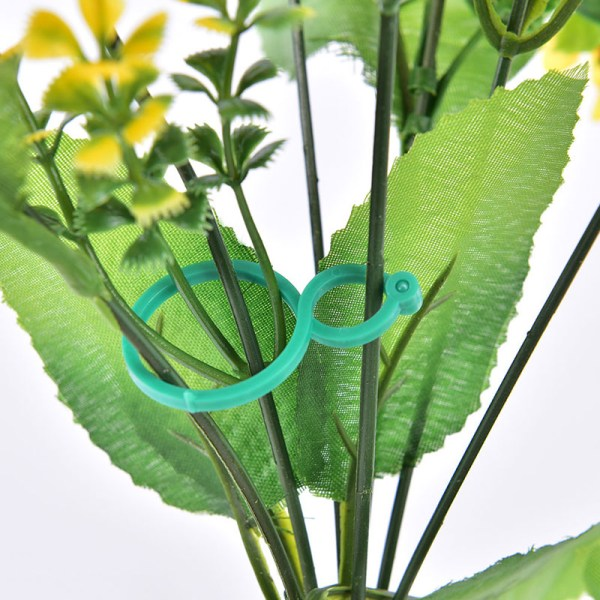 20/50 / 100st Plant Support Tomat Clips Återanvändbar plastträdgård