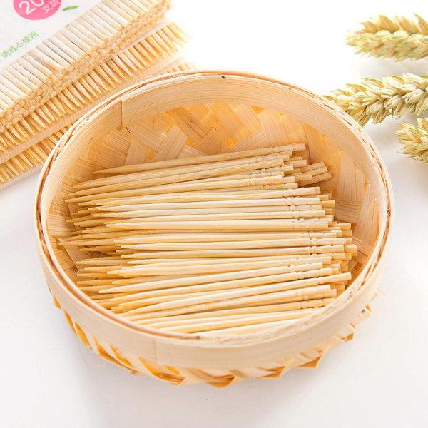 200st / pås Engångs Tandenstokers Bambu Tandpetare för
