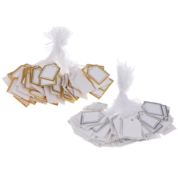 200st guld gräns etikett slips sträng biljett smycken merchandise