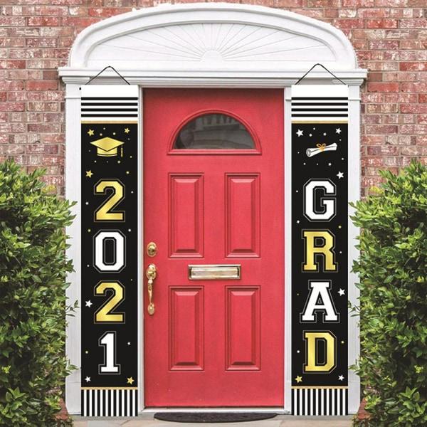 2021 Graduation Party Graduation Banners Door Porch Hanging Ban