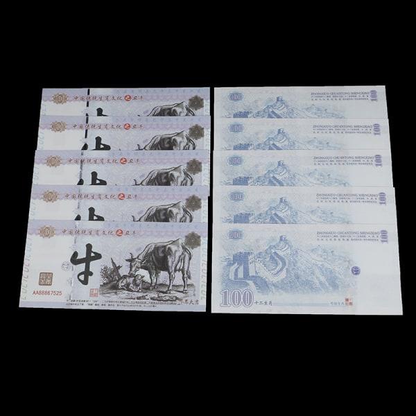 2021 Nyårsminnesmärke Ox Commemorative Coin Souvenir