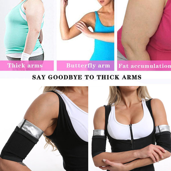 2st svett bastu arm ärmar kroppsformare smala armar hett termofett