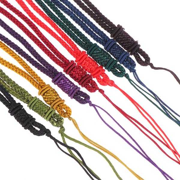 2st Handstickad Halsband siden tråd knut sladd för hängande-lon