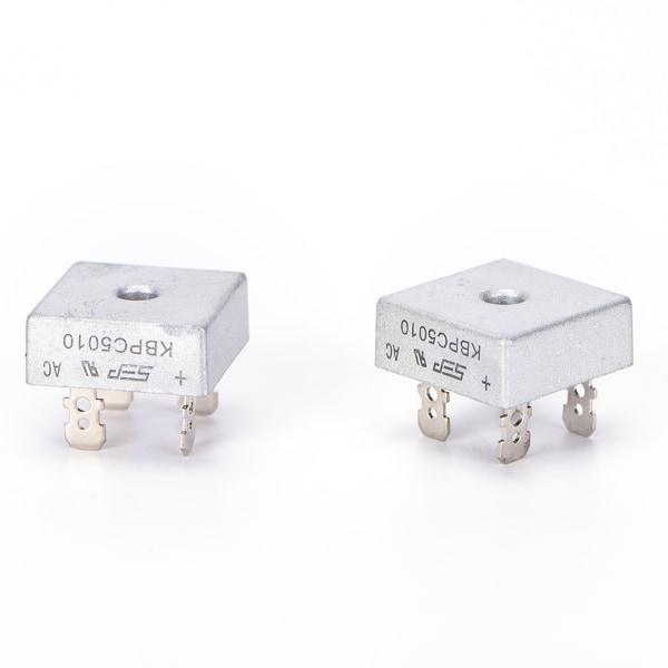 2PCS KBPC5010 50A 1000V Metallfodral Enfas diodbro R
