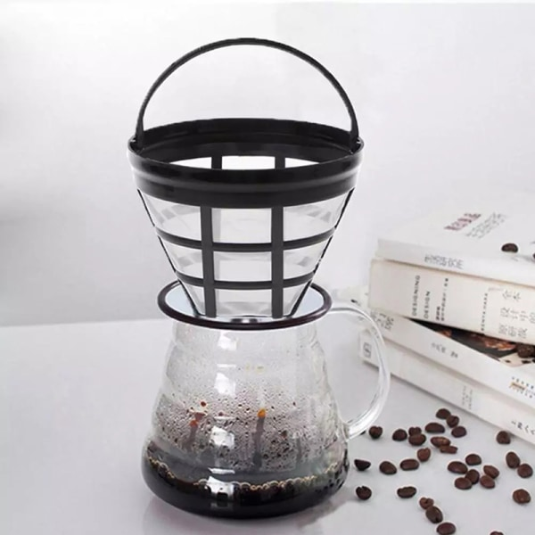2st återanvändbart kaffefilter korg kopp stil kaffebryggare Stra