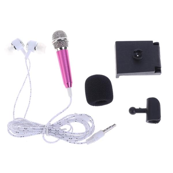 3,5 mm Stereostudiomik KTV Karaoke Mini-mikrofon med hörlurar