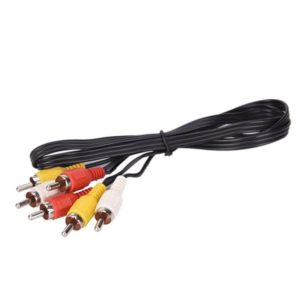 3 RCA hane till 3 RCA hane komposit Audio Video AV-kabelkontakt 1