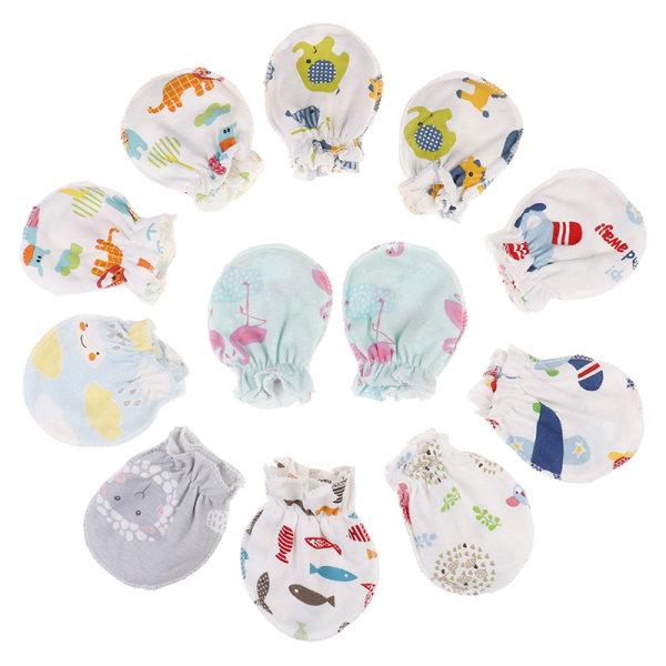 3st nyfödd skydd ansikts bomullsvantar mode baby cartoo