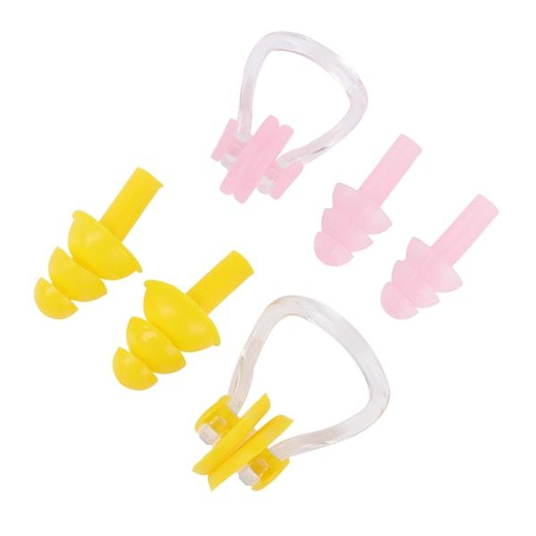 3st / uppsättning Unisex näsklämma + öronproppar vattentät silikon simning
