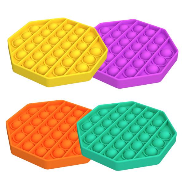 4 Pcs Push pop Bubble Fidget Sensory Toy Four combinations Octagon