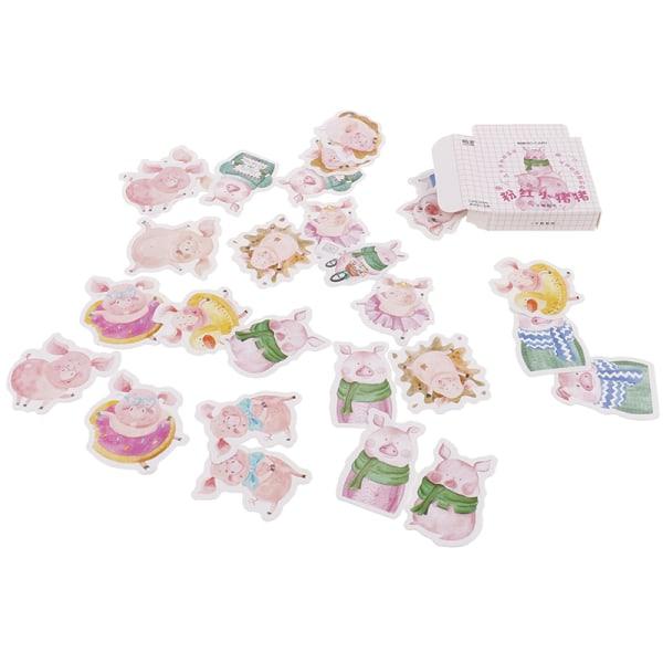 46st rosa gris papper dekor diy dagbok scrapbooking etikett klistermärke