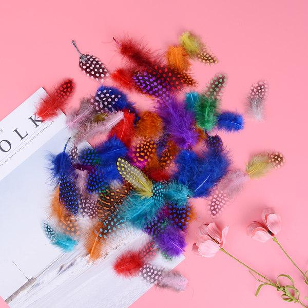 50st fiskefest dekoration färgad pärlhönsfjäder