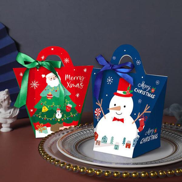 5st julklapppåse Rött pappersjulpåse för godiscooki