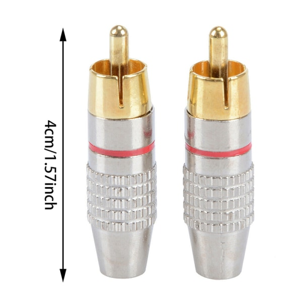 5st RCA-hankontaktadapter Löd Audio Video Phono-kabel Conne