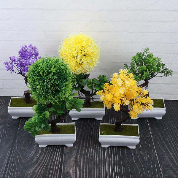 Konstgjorda växter Gröna Små trädväxter Fake Flowers Potted O