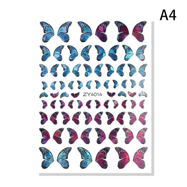 fjärilar spikar konst manikyr klistermärken för eller artificia