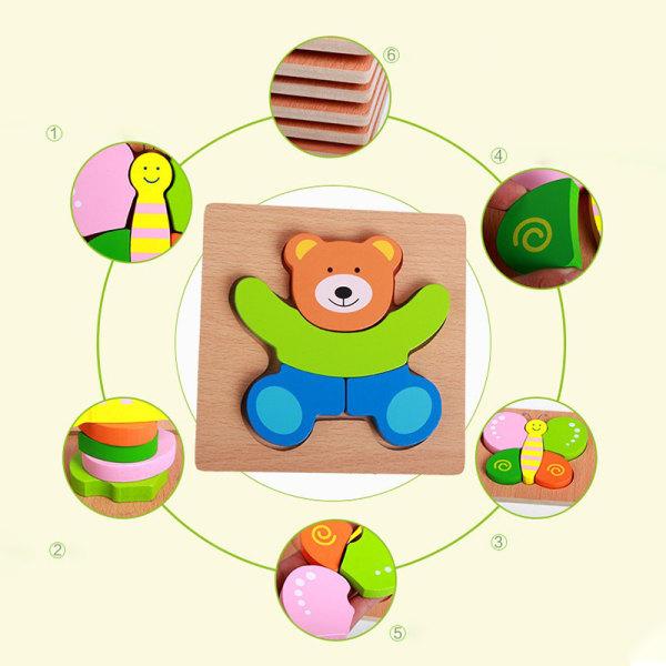 barn pusselbräda pedagogiska träleksaker för småbarn