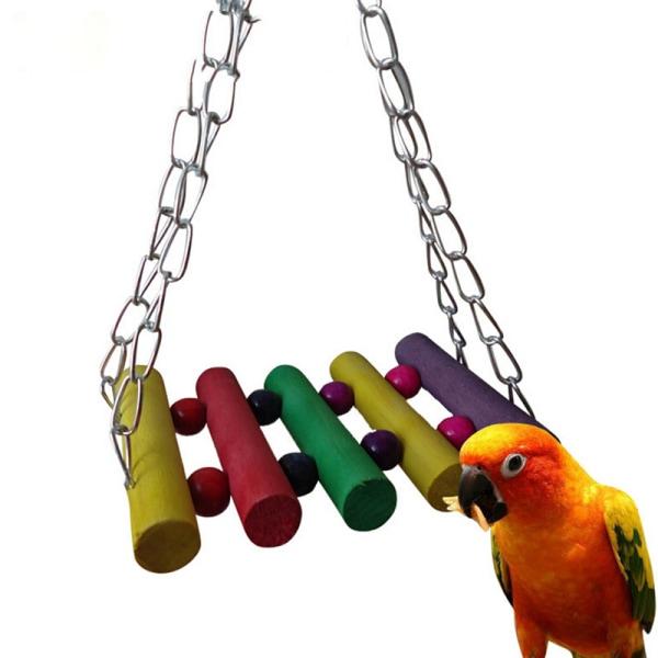 Färgglada Bird Papegoja undulat Budgie Cockatiel Cage Hammock Swi