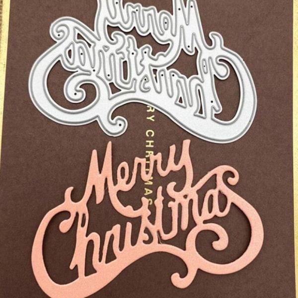 Cutting Die Metal Stencil Kolstål prägling till jul