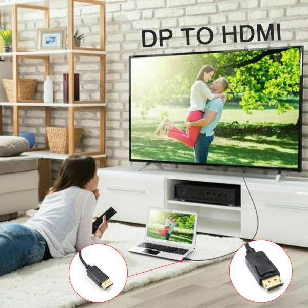 Displayport DP till HDMI-kabel Adapter Converter Audio Video PC