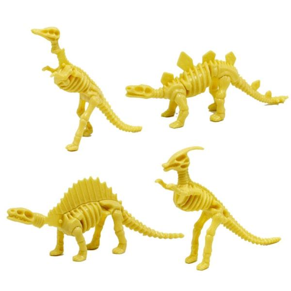 DIY plast simulering skelett pussel dinosaurie leksak barn utbilda