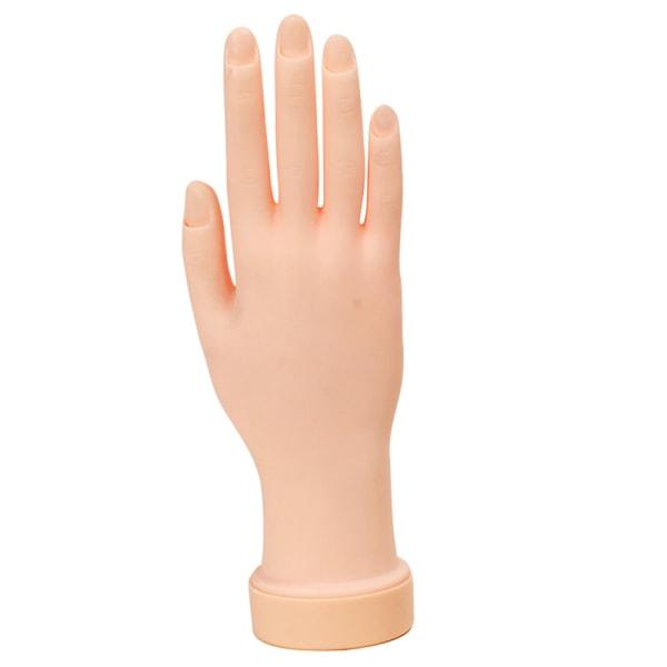 Falsk hand för nagelkonstträning och visa rörlig övning Na