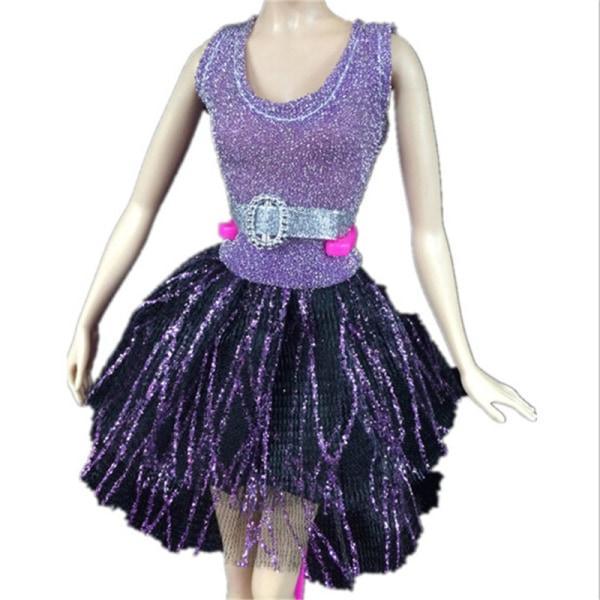Handgjord klänning Bröllopsfest Mini klänning mode kläder för docka