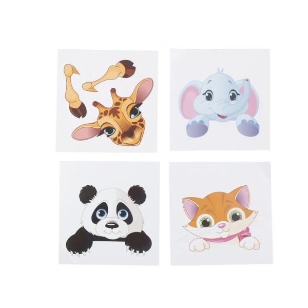 Hög kvalitet Elephant kattunge panda Socket Switch Wall Sticker V