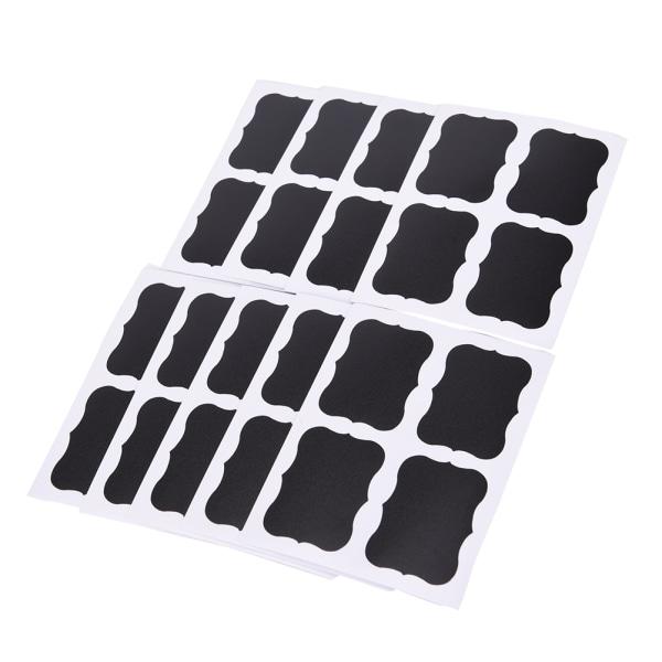 Hot Sale 36st svarta tavlan svarta tavlan klistermärken dekaler