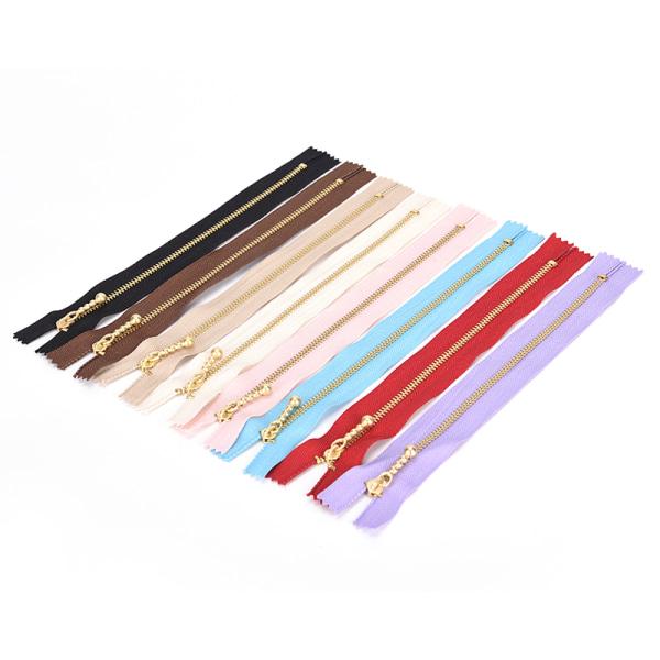 Många 20 CM Japan YKK # 3 Gold Tooth Metal Zipper DIY för väskor Pat