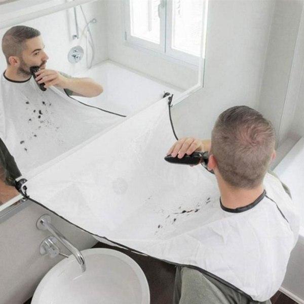Mäns badrum Facial Hair Beard Apron Care Rakning Cape Bib Tri