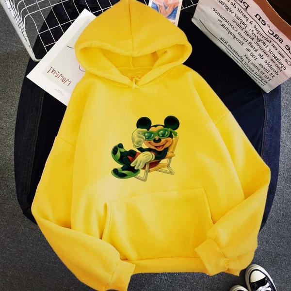 Mickey-tryck långärmad tröja med huva