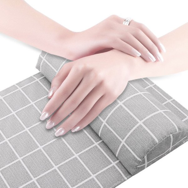 Nail Art Handstödkudde Mjuk svamp PU kuddehållare i läder