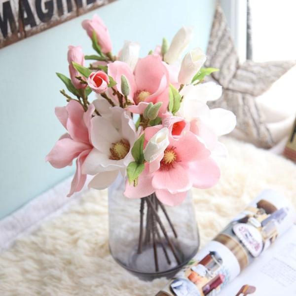 Naturligt torkade bomull blommar konstgjorda växter blommiga bröllop
