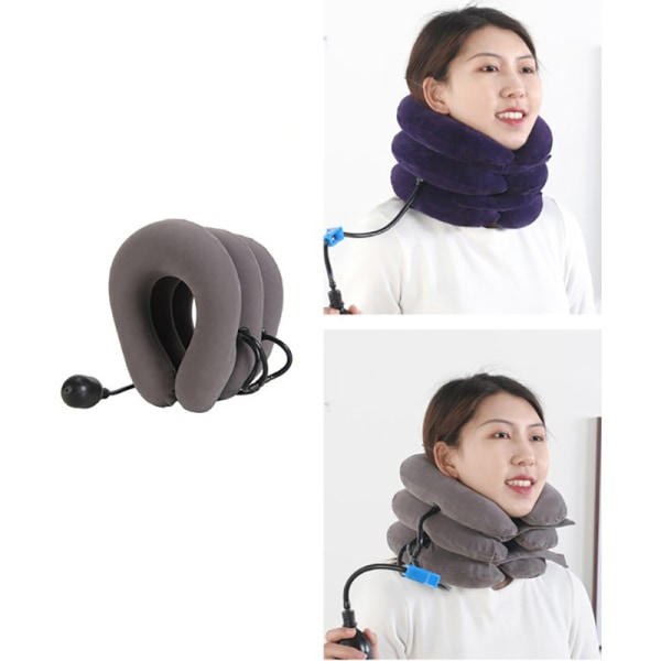 Halsbår Air Cervical Traction Orthopedic Pillow Collar Pa