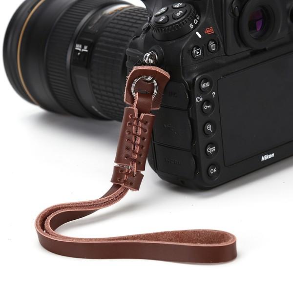 Ny kamerarem Handledsrem Läderband för DSLR