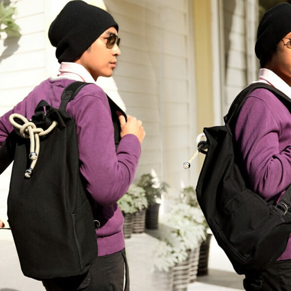 Utomhus Sport Pack Gym Duffle Bag Dragsko Ryggsäck för Trave