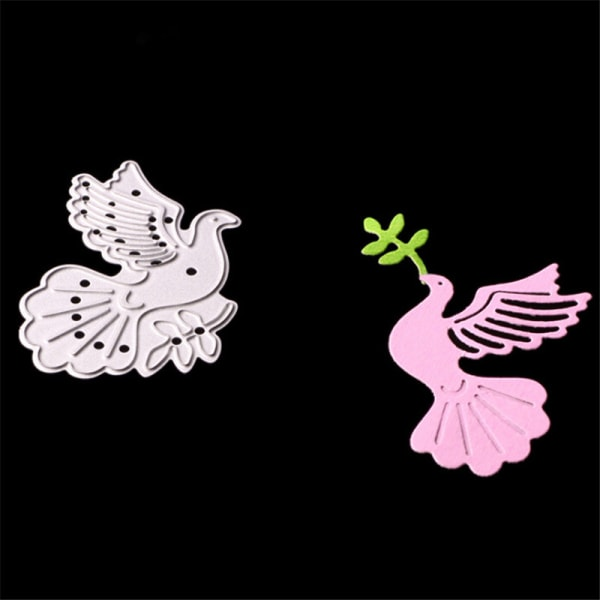 Peace Dove Metal Cutting Dies Stencils för DIY papperskort Scra