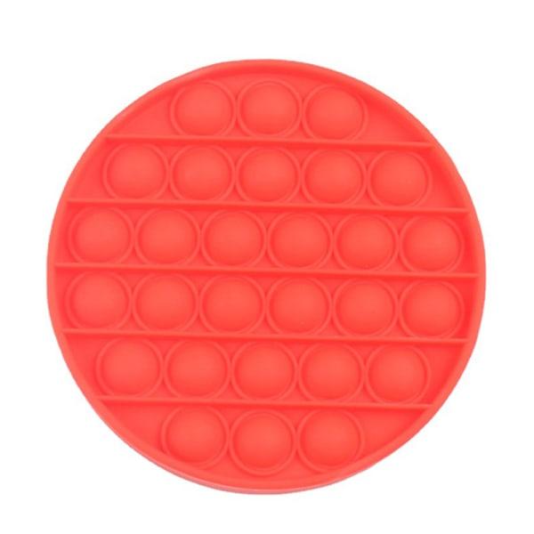 Pop it Fidget Toy Bubble Sensory Fidget Toy Red circular