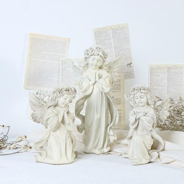 Praying Cherub Statue Angel Statue Figurine Home Garden Decor Wi
