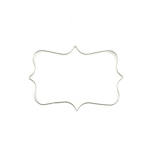 rektangulär ram kakformar rostfritt stål dekoration cooki